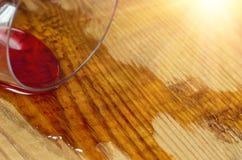 Gemorst glas wijn stock afbeelding