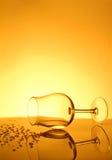 Gemorst wijnglas stock fotografie