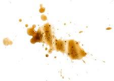 Gemorste geïsoleerde koffievlek Royalty-vrije Stock Afbeelding