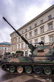 Gemotoriseerde artillerie - 155 mm-houwitser Royalty-vrije Stock Foto's
