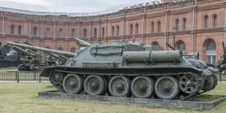 Gemotoriseerde artillerie su-100 Royalty-vrije Stock Afbeelding