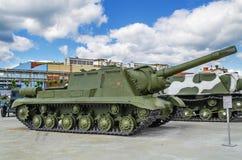 Gemotoriseerde artillerieinstallatie ISU 152 Royalty-vrije Stock Afbeelding