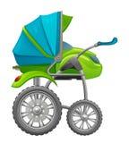 Gemotoriseerde babykinderwagen Stock Foto