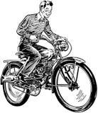 Gemotoriseerde fiets royalty-vrije illustratie