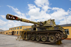 Gemotoriseerde gepantserde artilleriehouwitser 152mm houwitser2c3 Acacia Stock Afbeeldingen