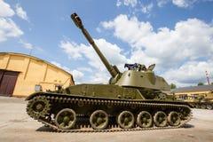 Gemotoriseerde gepantserde artilleriehouwitser 152mm houwitser2c3 Acacia Royalty-vrije Stock Afbeelding