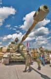 Gemotoriseerde 152 mm-houwitser 2S19 msta-s Stock Afbeelding