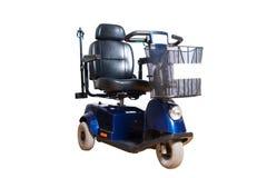 Gemotoriseerde rolstoel met mand voor beschikbare mensen Royalty-vrije Stock Fotografie