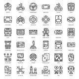 Gemowa technologii i akcesoriów konturu ikona Obraz Royalty Free