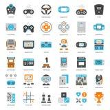 Gemowa technologii mieszkania ikona Zdjęcie Royalty Free