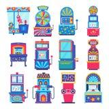 Gemowej maszyny wektorowa arkada uprawia hazard gry w kasynie ilustracji