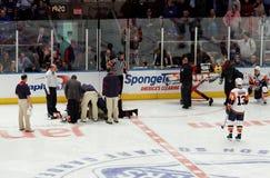 gemowi hokeja lodu wyspiarek leśniczowie x Fotografia Royalty Free