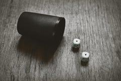 Gemowi kostka do gry ustawiający sztuka abstrakt Obraz Stock