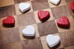 Gemowi miłości serca warcaby Zdjęcie Royalty Free