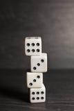 Gemowi przedmiotów kostka do gry odizolowywający na białym tle Fotografia Royalty Free