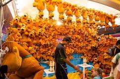 Gemowy budka wygrywa nagrody dla Scooby Doo psa lal przy społeczności zabawy jarmarku Sydney Królewskim Wielkanocnym przedstawien obraz stock