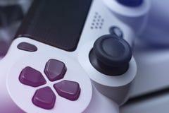 Gemowy ochraniacz 3d kontrolera gry modela wideo biel z bliska obraz royalty free