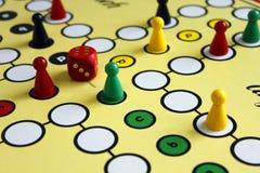 Gemowy sztuki postaci boardgame szczęście gniewny Zdjęcia Stock