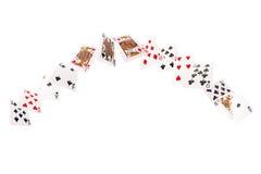 Gemowych kart latać Odizolowywa na białym tle Obrazy Royalty Free