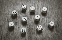 Gemowych kostka do gry tła ciemny abstrakt Zdjęcie Royalty Free