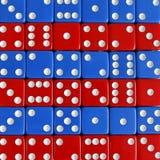 Gemowych sztuk kostka do gry blau gnilna liczba przypadkowa Fotografia Stock