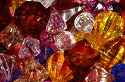 Gems. Photo of Various Color Gems, Jewels and Crystals royalty free stock photography