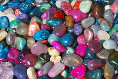 Gems. Heap of many colored gems stock photography