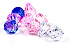 Gems. Various Color Gems royalty free stock image
