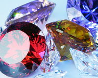 Gems. Colorful gems a close up royalty free stock image