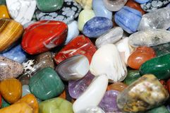 Gems. Heap of various colored gems royalty free stock images