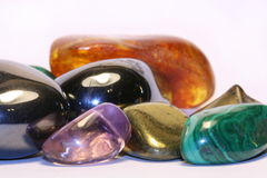 Gems. Many colorful gems close up royalty free stock image