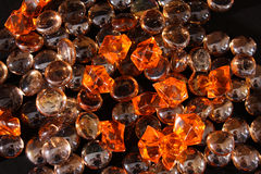 Gems background. Shiny brown and yellow gems background Royalty Free Stock Photo