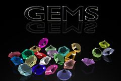 Gems on a black background. Stock Photography