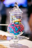 Gems Candy in a Jar. Colourful Gems Candy in a Jar royalty free stock photo