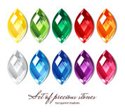 10 gems collection Royalty Free Stock Photo