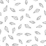 Gems, crystals black and white pattern vector vector illustration