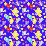 Gems crystals seamless Pattern Stock Image