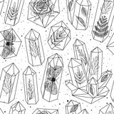 Gems, crystals seamless pattern vector royalty free illustration