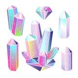 Gems, crystals vector vector illustration