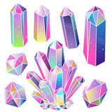 Gems, crystals  vector Stock Image
