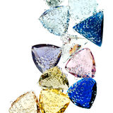 Gems falling into water. Royalty Free Stock Image