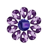 Gems flower isolated Stock Image