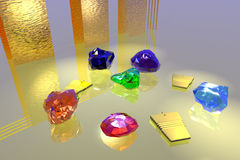 Gems in golden light Royalty Free Stock Image