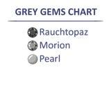Gems grey color chart vector illustration