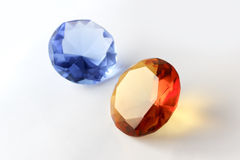 Gems isolated. Bright gems isolated on a white background Royalty Free Stock Images