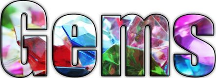 Gems Logo High Quality royalty free stock photography