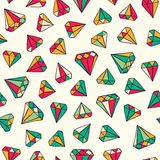 Gems pattern Royalty Free Stock Images