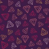 Gems pattern Royalty Free Stock Photography