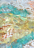 Gems and pearls Stock Images