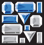 Gems of sapphire and diamond Stock Image